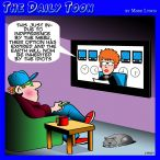 News anchor cartoon