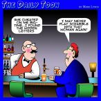 Cheating cartoon