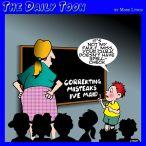 Teacher and student cartoon