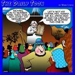 Thou shalt not covet cartoon