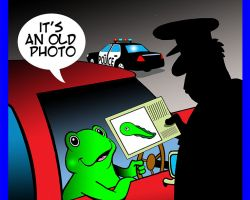 Highway patrol cartoon