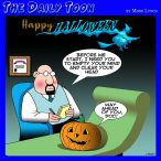 Pumpkin head cartoon