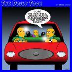 Crash test dummies cartoon